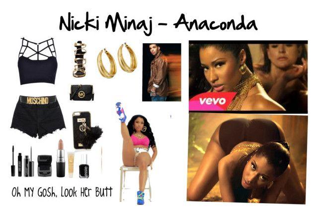 """Nicki Minaj - Anaconda"" by sofy-styles1 ❤ liked on Polyvore featuring Alexander Wang, Moschino, Giuseppe Zanotti, MICHAEL Michael Kors, River Island, Lord & Berry, MAC Cosmetics, Lancôme, Essie and Lucky Brand"