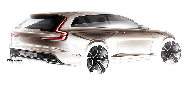 Volvo Concept Estate - Design Sketch by T. Jon Mayer