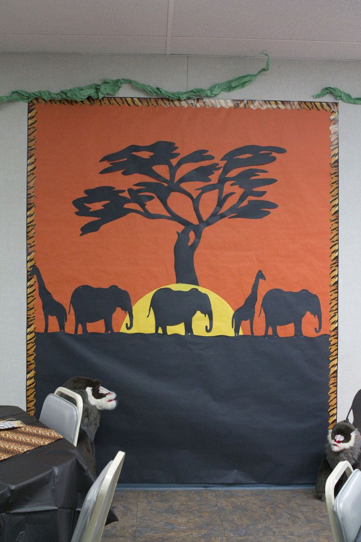 safari photo area (or a great classroom bulletin board)