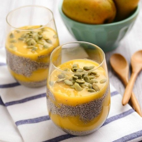 Sweet Mango Chia Pudding | Delicious! | Made with Healthy, Wholesome Ingredients from @HealthyAperture