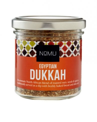 Egyptian Dukkah | An aromatic North African blend of roasted nuts, seeds and spices, traditionally served as a dip with freshly baked bread and olive oil. Works wonderfully when worked into couscous, mixed with a cheese spread or sprinkled over salads!