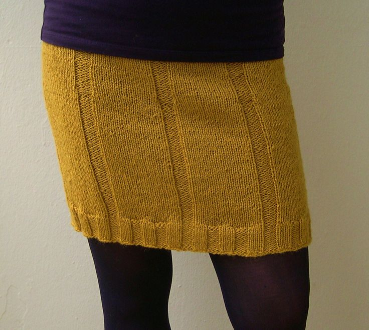 DIY: Drops, Ribbed Knit Mini Skirt ---- Use different color. ---- #bottom