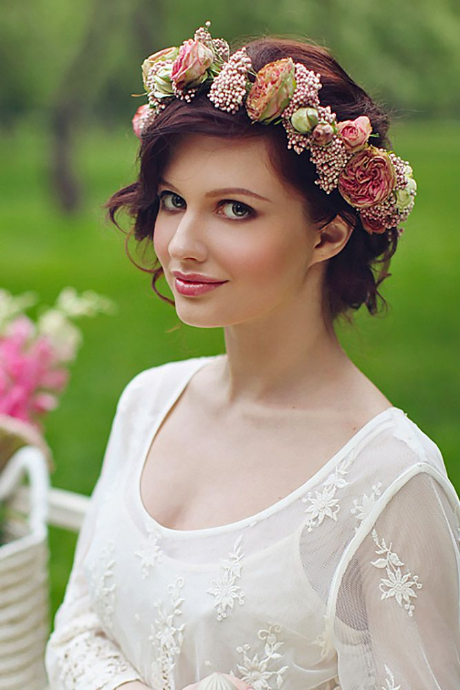 Gorgeous Blooming Wedding Hair Bouquets ❤ See more: http://www.weddingforward.com/blooming-wedding-hair-bouquets/ #weddings