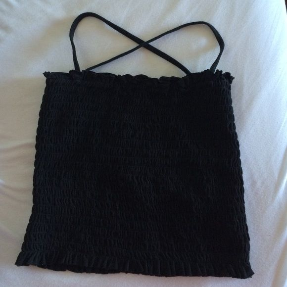 OFFERS? Ruched Brandy Melville Top NWOT. Hesitant to sell, hence the price Brandy Melville Tops Crop Tops