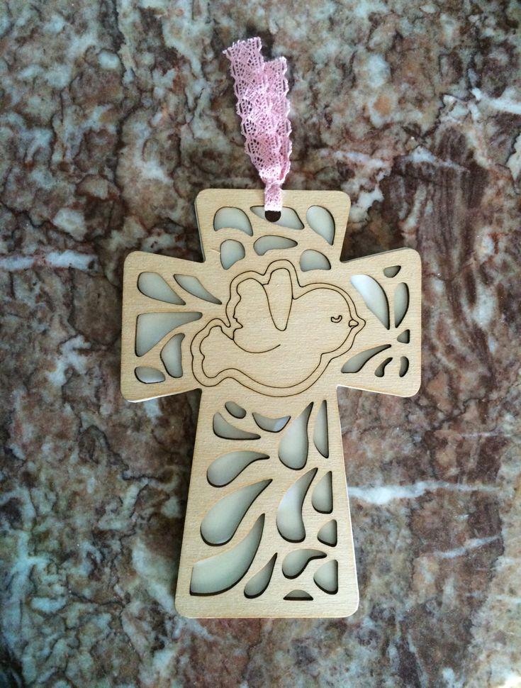 Corte láser madera bautismo invitaciones por YanelisCreations