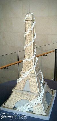 3D Eiffel Tower Cake tutorial