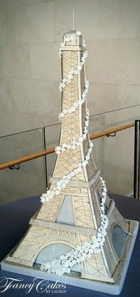 3D Eiffel Tower Cake tutorial