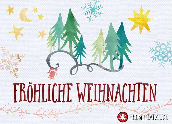 Kartenemma Postkarte   Fröhliche Weihnachten