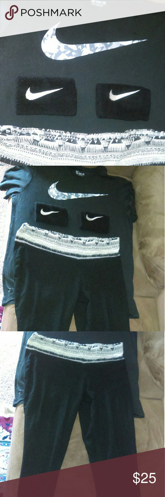 Workout outfit and sweat bands size large Size Large Other