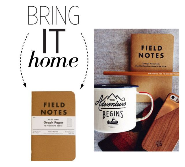 """""""Bring It Home: Field Notes Graph Paper"""" by polyvore-editorial ❤ liked on Polyvore featuring interior, interiors, interior design, home, home decor, interior decorating, Gentlemen's Hardware and bringithome"""
