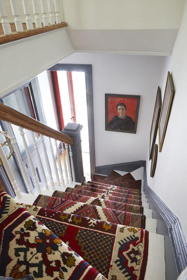 A Statement Foyer Desire To Inspire Desiretoinspire Bat Cave Nooks Staircase Runner Carpet Stairs Hallway Runners