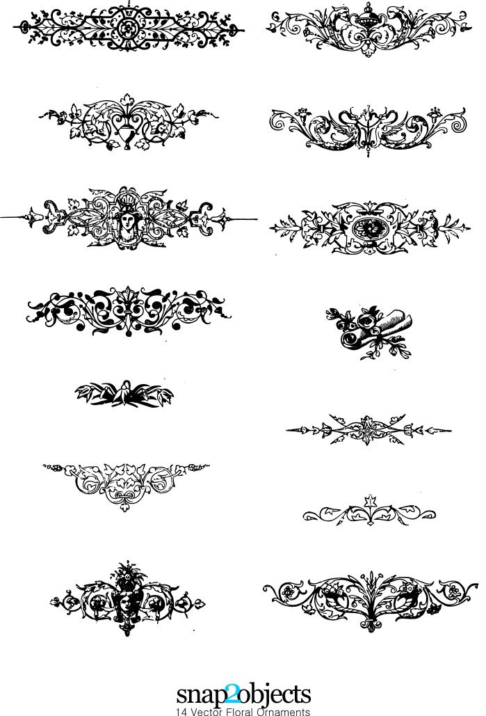Floral Vector and Photoshop Brushes - Free-Vectors.com