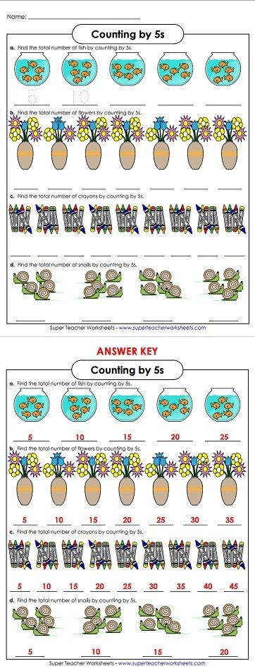 Skip counting is an important basic math skill STW has