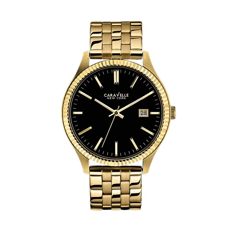 Caravelle New York by Bulova Men's Watch, Yellow