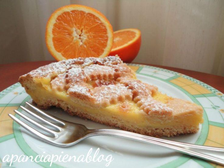 Crostata all'arancia (ricetta tradizionale e bimby)