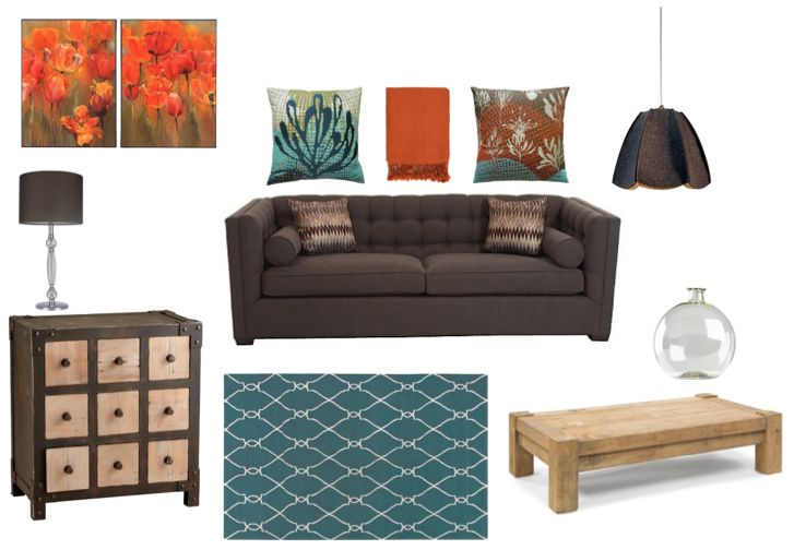 17 Best Images About Living Room Teal Brown And Orange On Pinterest Armchairs Turquoise