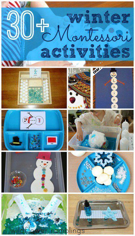 Montessori Winter Activities - Wildflower Ramblings