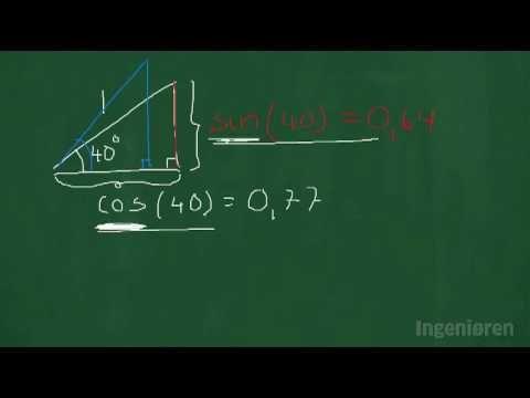 36 Lær om ensvinklede trekanter sinus og cosinus og højdemål