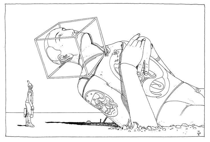 Moebius is one-of-a-kind, a master that influenced some many artists that we cover on our site, and when we see works of his, we always feel compelled...