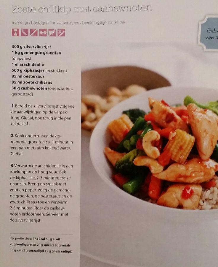 Zoete chili kip met cashewnoten  (gezondetenmagazine )