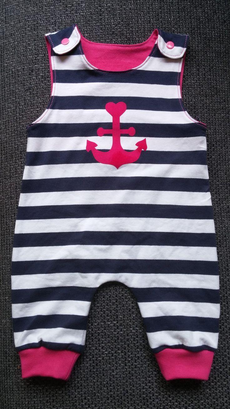 Tigerlillys mädchenhaft maritimer Mädchenstrampler freebook 56-62