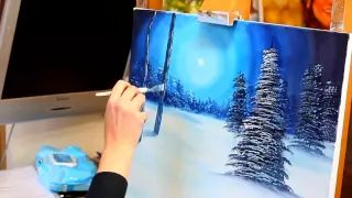 how to paint a landscape with acrylics for beginners - YouTube