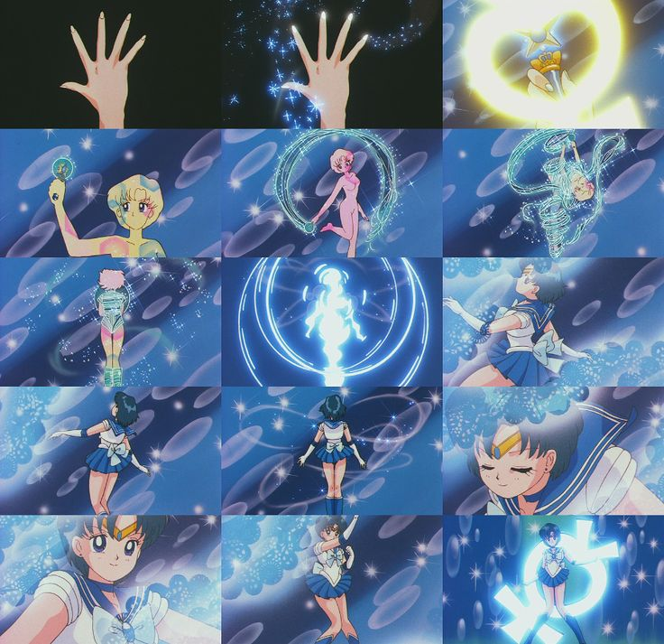 Sailor Mercury - Mercury Star Power, Make Up! (Season 2 - Sailor Moon R transformation)