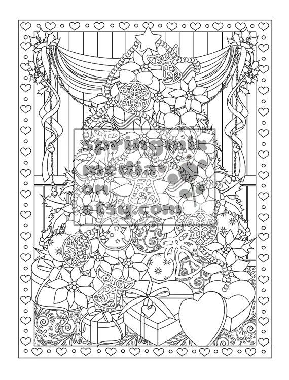17 Best Ideas About Christmas Tree Coloring Page On Detailed Tree Coloring Pages