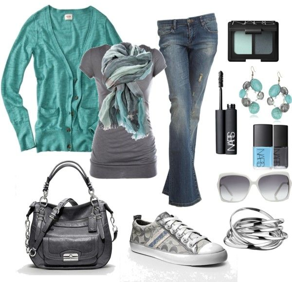 Grey and teal <3