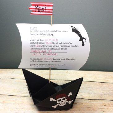 Piraten Einladung Piratenschiff