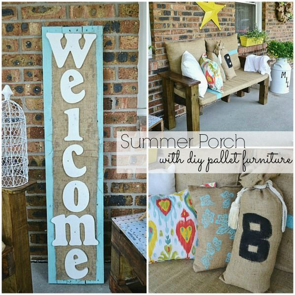 Summer Porch Decorating Ideas Diy: Summer Porch-DIY Pallet Furniture -