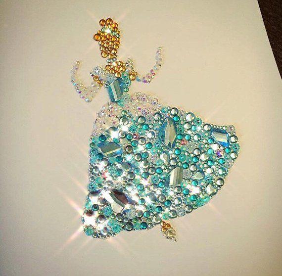 DISNEY PRINCESS CINDERELLA PAINT DECORATE STYLE CRAFT JEWELLERY ART GIFT