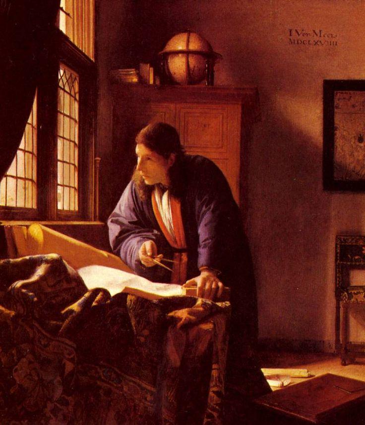 Vermeer The Geographer. Ян (Йоханнес) Вермеер
