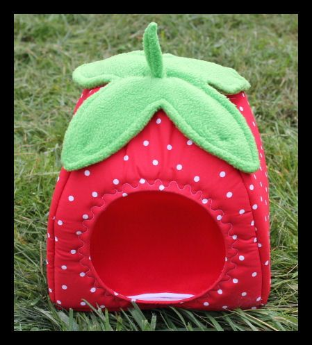Strawberry Soft and Cozy Small Animal Bed Hut Hedgehog Guinea Pig Rat on Etsy, $34.00