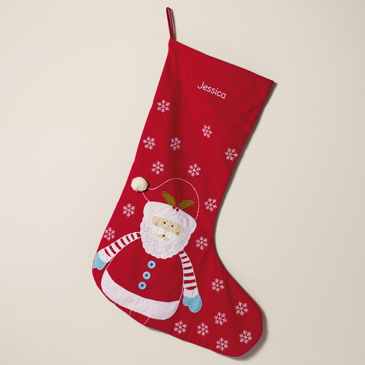 Personalised Christmas Stocking - Father Christmas - Christmas Stockings & Sacks - Christmas