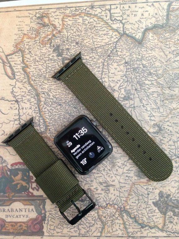 Apple Watch Original Serie 1 Serie 2-Band: Nato 2-teilig von STRPS