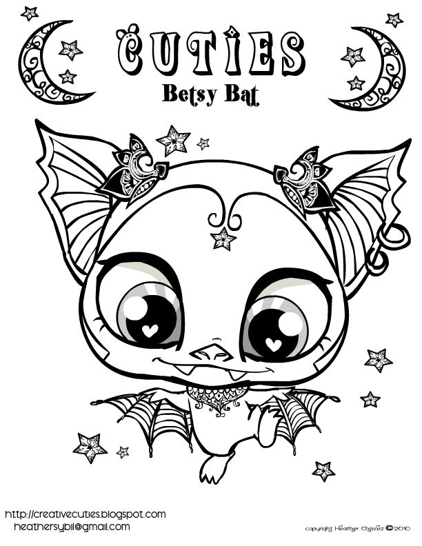 Printable Bat Pictures Color Pages