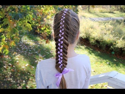 Woven Fishtail Ribbon Braid (Nauhallinen kalanruotoletti -ohje) - YouTube