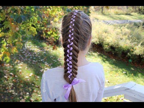 Woven Fishtail Ribbon Braid (Nauhallinen kalanruotoletti -ohje) - YouTube