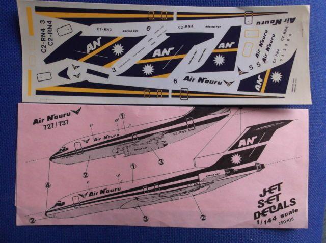 Air Nauru 727 model decals