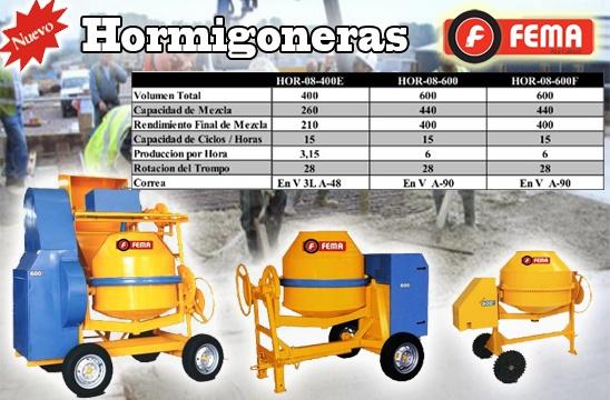 Características de Hormigoneras | FEMA