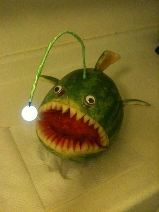 A watermelon angler fish! This seems unnecessary, but I enjoy it nonetheless.