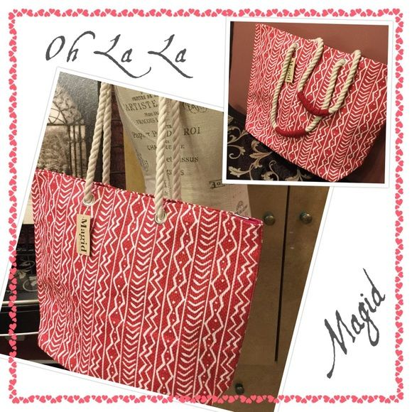 ❤️Oversized Beach Bag❤️ ✨❤️Great bag to carry to the beach,.....,very strong handle to secure your packed goodies!☺️❤️ Magid Bags Shoulder Bags