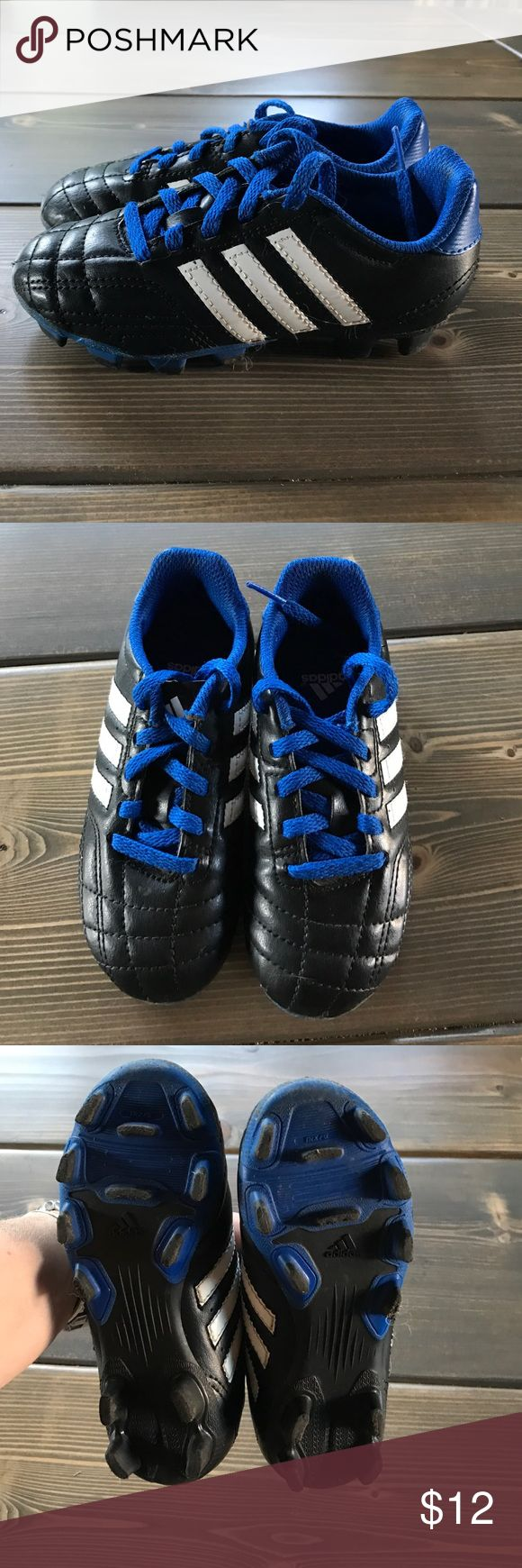 Adidas Soccer Cleats Adidas Soccer Cleats blue & black size 11 toddler/little kid Adidas Shoes Sneakers