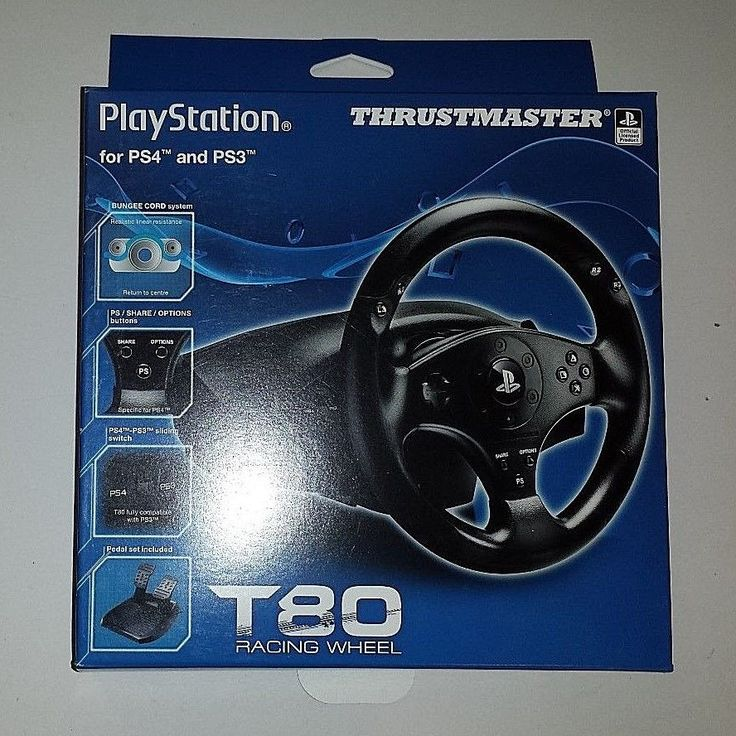 2014 PLAYSTATION PS4 AND PS3 THRUSTMASTER T80 RACING WHEEL ****REPLACEMENT BOX O #Sony