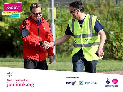 Renowned comedian and Join In patron Eddie Izzard attended Join In Summer 2013 to surprise the volunteers at Chelmsford for Parkrun. Find local events near you at www.joininuk.org
