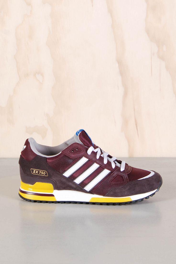 Adidas: ZX 750 Light Maroon Burgundy - Yokiono www.yokiono.com