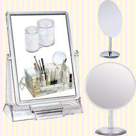 Gmarket - Transparent Rectangular makeup Mirror(Big size)/cosmetic mirror/투명 사각 탁상거울/큰거울/커다란거울/집들이선물/개업선물/결혼선물/인테리어거울/화장거울/답례품