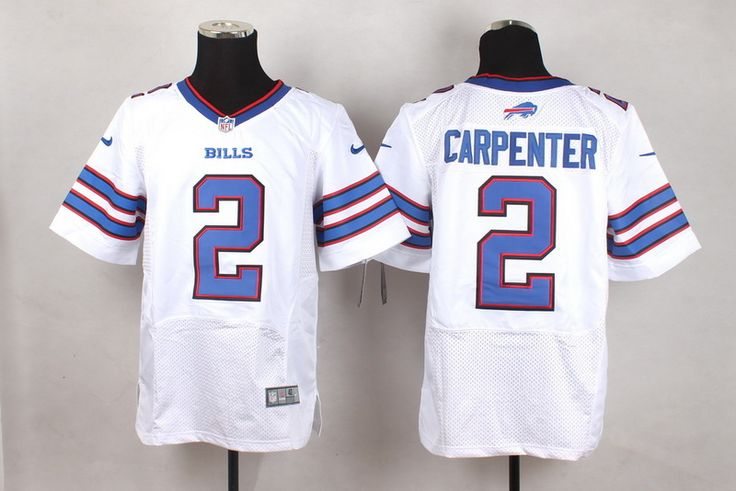 Buffalo Bills Men Elite Dan Carpenter White Road 2 NFL