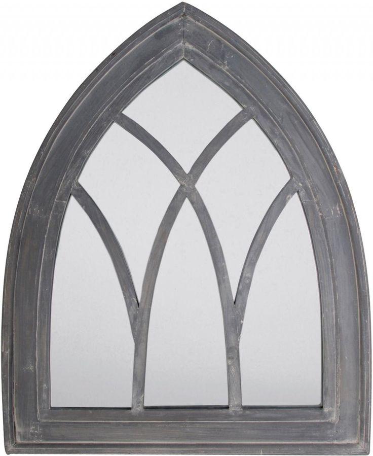 Spiegel - Gotisch - Grijs - Esschert Design
